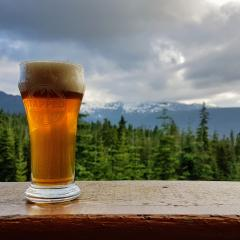 Beer festival at the top of Mount Washington