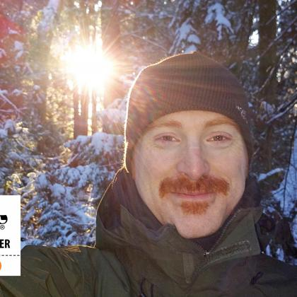 Movember - Day 30 - My moustache and I having fun in the snow on the last day of Movember Canada