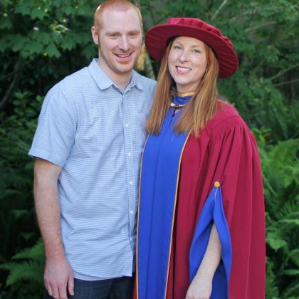Dr. Sara Dubois at her PhD graduation ceremony at UBC
